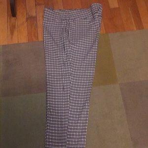 Cato Black/white checked dress pants
